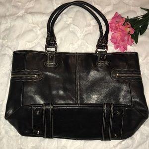 🌟JUST IN - NORDSTROM Black Leather Tote Handbag